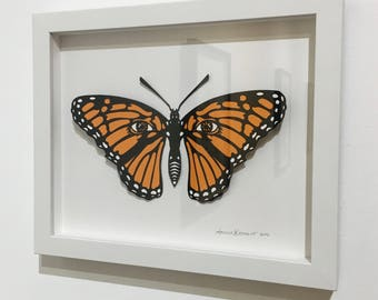 Monarch Butterfly Silkcreen Print