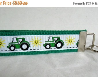 20% OFF Green Tractor Key Fob - Farm Key Chain -  Large Tractor Keychain - Sunny Farm Key Holder
