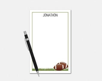 Football Notepad - Personalized Football Notepad - Coach Gifts - Football Coach Notepad - Gifts for Boys - Football Stationery