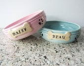 Replacement bowl - Dog Food Bowl  // Custom Name Custom Color // Made to order