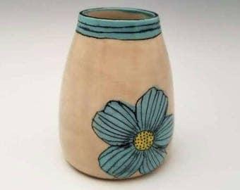 Mini ceramic bud vase, pottery vessel, modern ceramic vase