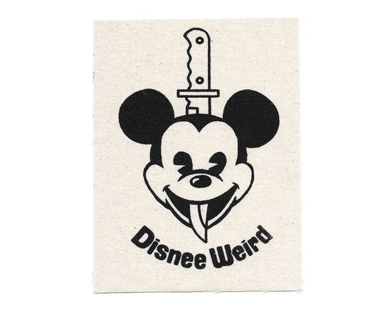 Disnee Weird Mickee Stitch-On Patch