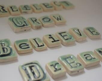 You Choose - Letter Tiles - Mosaic Tiles - Magnet Tiles - Reflect - Grow - Believe - Dream