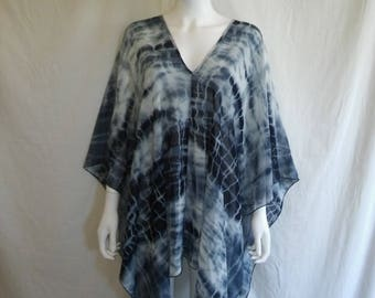 Sheer bathing suit cover up tie dye    One size fits most