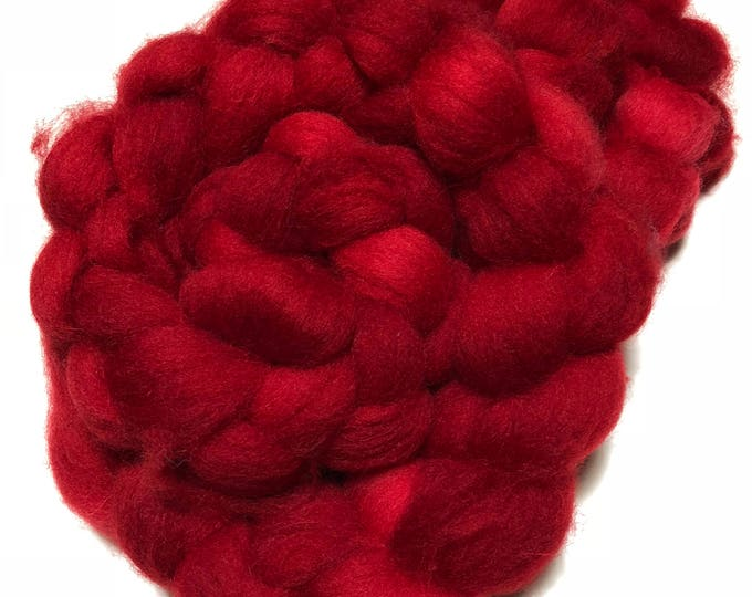 Kettle Dyed Cheviot Wool top. Roving.  Spin. Felt. Soft and easy to work with. 1/2lb. Hearts