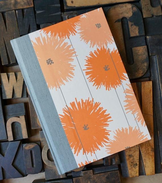 Journal - Large Unlined Orange Flowers