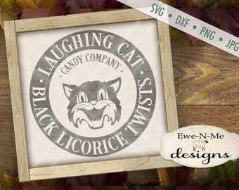 Halloween SVG - Black Cat SVG - Fall SVG - Autumn svg - Candy svg - Licorice svg - Trick or Treat svg - Commercial Use svg, dxf, png, jpg