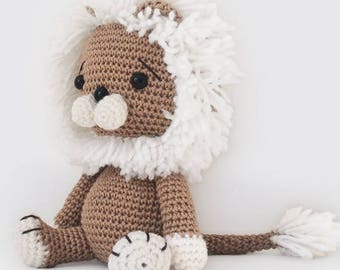 Amigurumi Crochet Lion Pattern - Lav the Lion - Softie - Plush