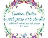 Custom 10 art prints, Ladybugs, Alligators and transportation art prints