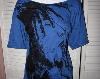 snip snip its my birthday sexy blue backless Bob Marley inspired 420 friendly backless cut woven crochet t shirt one size fits most