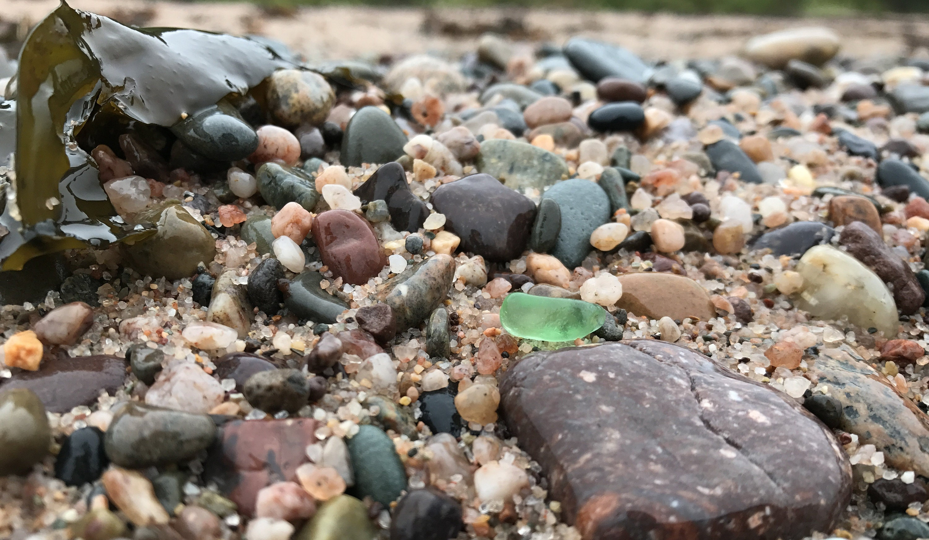 sea glass and beach pebbles digby nova scotia