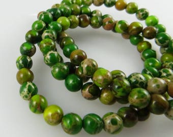4mm Green Variscite Beads - Full Strand, Approx 100 beads