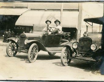vintage photo 1914 Ford Rambler Cafe City View Plainville, KS C. Samuelson J.L. Bles
