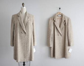 25% OFF SALE tweed wool jacket | beige tweed coat | oversized jacket