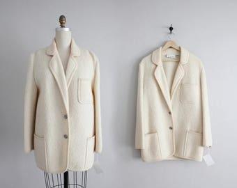 25% OFF SALE boiled wool coat | chunky coat | cream coat