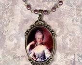 Plum Queen Marie Antoinette Necklace - Vintage Paris Fashion - Art Masters Collection - The Aubergine Queen
