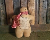 Primitive Catch Me If You Can Gingerbread Man Decoration