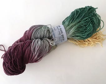 Multi sock yarn - destash - sock yarn - Free Shipping