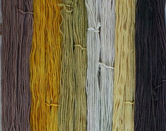 Grellow set of 6 one ounce skeins worsted weight wool total 330yds 302m