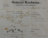 One Antique Paper..business..bank..1855..1864..1865..1863
