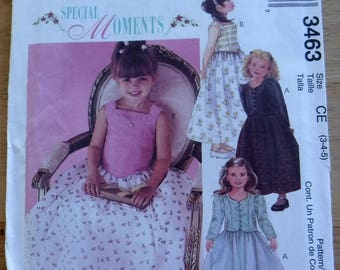 Uncut girl dress sewing pattern/Special Moments Gown 3 4 5 sewing pattern/holiday formal princess/flower girl dress/toddler festive dress