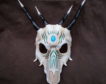 Southwestern Dragon Skull Leather Mask ... leather dragon mask masquerade costume mardi gras halloween burning man fantasy skull