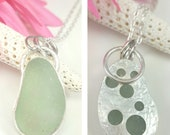 Sea Glass Necklace Aqua Sea Glass Pendant Sea Glass Jewelry Contemporary OOAK Sea Glass Necklace Mothers Day Gift - N-633 Mothers Day Sale