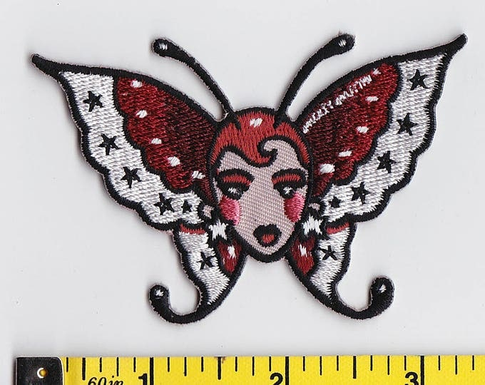 Iron On Patches - Moth Girl by Artist Mickey Martin