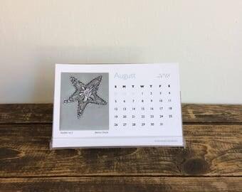 2018 Desk Calendar - 12 month art calendar