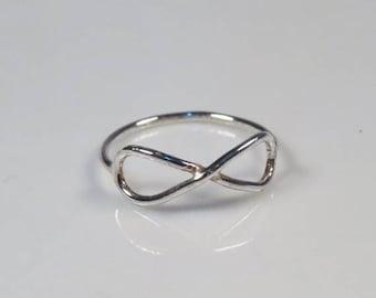 SALE - Best friend Infinity ring sterling silver, infinity friendship ring, Infinity jewelry