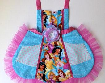 Princess Tulle Bouquet Apron, toddler apron, girls apron