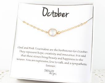 October Birthstone Gold Bracelet,  White Opal Bangle Bracelet, October Birthday White Opal Bracelet, October Birthstone Bracelet