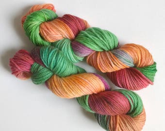 Hand-dyed yarn, Indie dyed yarn, hand dyed yarn GARDEN FRESH -- ready to ship --  Flushing Meadows bulky superwash wool yarn