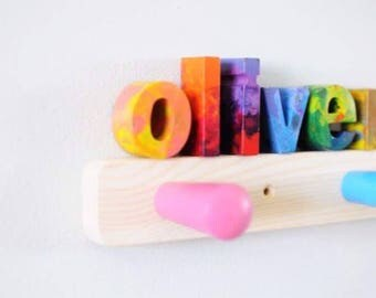 LOWERCASE Crayon Letters - Individual Lowercase Original Rainbow Crayon Letters Made to Order in Custom Colors You Pick -Alphabet Crayon