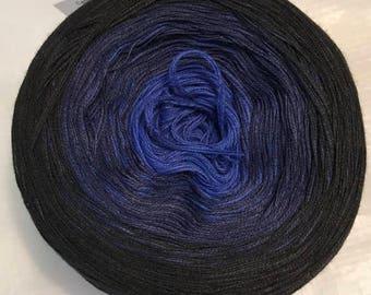 light fingering gradient tied cotton 100g Black Lace v.2