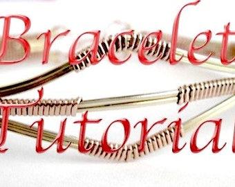 Tutorial Two-Toned Wire Wrapped Bracelet ePattern Intermediate PDF