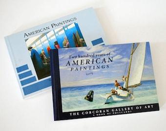 Art Postcard Books, American Paintings, Fine Art Reproductions, Running Press, Colorful Art Cards, 20th Century Art, Vintage Ephemera