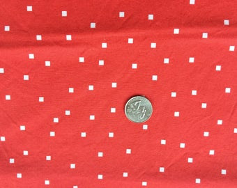 1 yard - SHERBET PIPS dots squares in cherry red by aneela hoey for moda fabric - selling my stash!