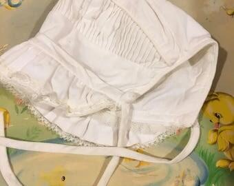 1950s Baby Bonnet 0/6 Months