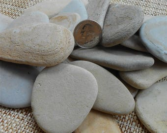 Pebble Art, 12 Pieces, 2 to 3 Inches, Rocks, Pebbles, Craft Rocks, Flat Rocks, Miniature Garden, Fairy Garden, Stones, Natural Stone,Rock