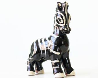 Vintage Ceramic Zebra, by Wales, Japan