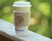 Crochet mug cozy,  Coffee cup sleeve, Fairytale gift,  travel mug cozy, Coffee cozy, coffee gift, Hedgehog coffee cozy, travel gift