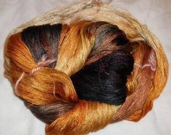 Hand dyed Tencel Yarn - 6/2 Tencel Lace Wt. Yarn  BLACK HILLS GOLD - 630 yards