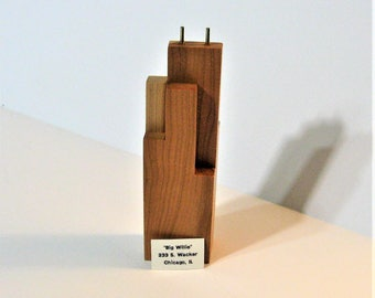 Chicago's Sears Tower Willis Tower Made of Cherry Wood