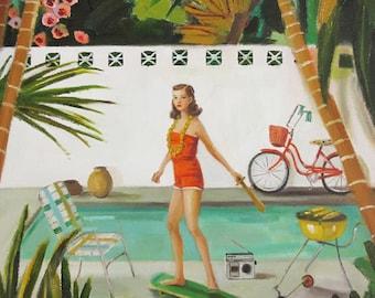 The Backyard Feminist. Art Print
