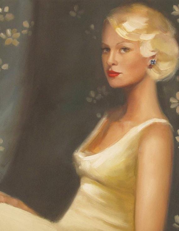 A Portrait Of Ms Frost. Art Print