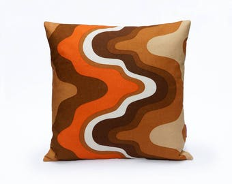 Modern Throw Pillow Cover - 70s Pillow Cover - Retro Cushion Cover Handmade by EllaOsix