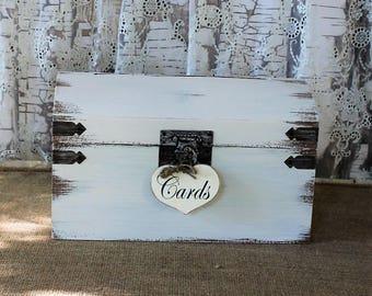 Wedding Card Box, Beach Wedding, Shabby Chic Card Box, Slotted Card Box, Rustic Card Box, Card Holder, Wedding Decoration,
