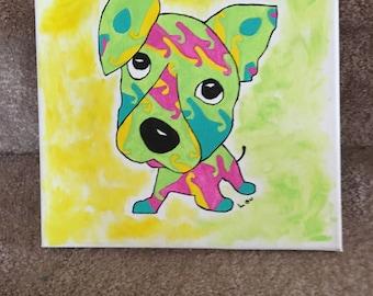 Whimsical Kaleidescope Puppy