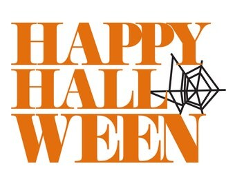 Happy Halloween Cut File .SVG .DXF .PNG